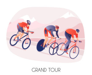 Cycling Tour Illustration