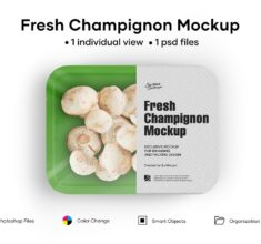Plastic-Tray-With-Champignon-Mockup